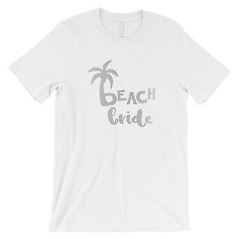 Strand Braut Palme-SILBER Herren weiß T-Shirt entspannt schön