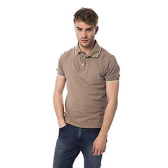 Maroon Bagutta men's short-sleeved polo shirt