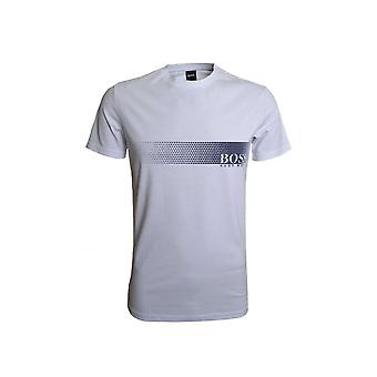 Hugo Boss Leisure Wear Hugo Boss Men's Slim Fit White Printed T-Shirt