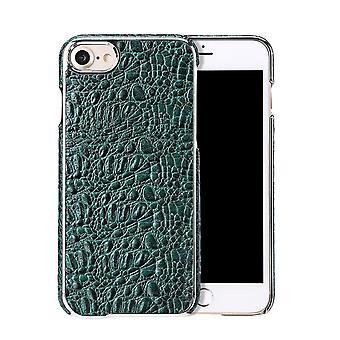 IPhone SE (2020), 8 & 7 tapauksessa Fierre Shann Crocodile kestävä aito nahkakansi, vihreä