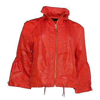 G.I.L.I. got it love it Women's Cropped Windbreaker w/Hood Red A290835