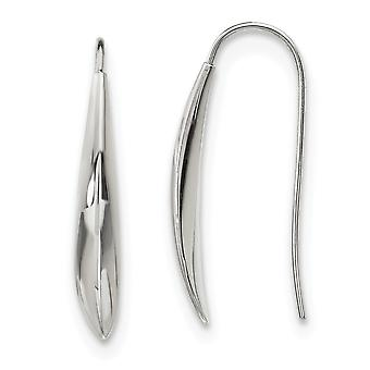 4.27mm Stainless Steel Polished Shepherd Hook Earrings Jewelry Gifts for Women