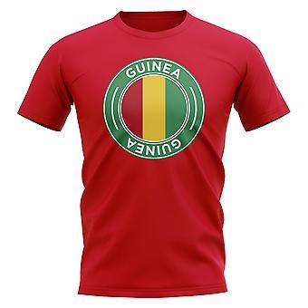 Guinee Voetbal badge T-shirt (Rood)