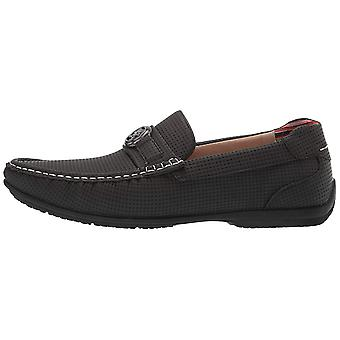 Stacy Adams Mens CYD Leather Closed Toe Slip On Shoes, Charcoal, Size 7.0