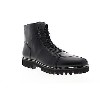 Zanzara Capri  Mens Black Leather Lace Up Casual Dress Boots Shoes
