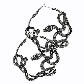 Restyle - entwined earrings - silver coloured