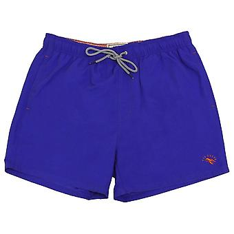 Ted Baker Ripley Plain Swim Shorts - Blue