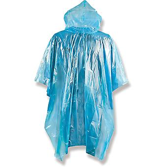 Yellowstone Emergency Lightweight Raincoat Poncho Blue