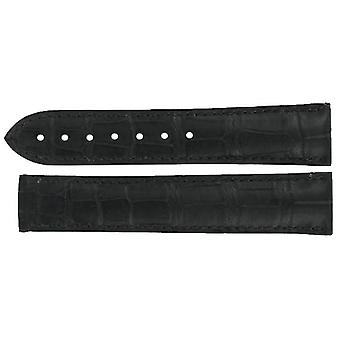 Authentic omega watch strap 20mm alligator - black deployment