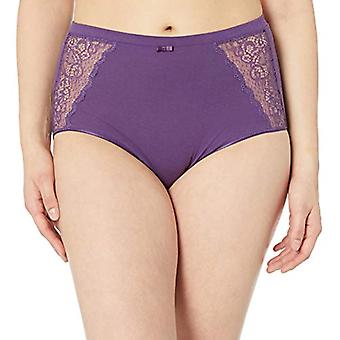 Bali Women's Cotton Desire W/Lace Hi Cut, Purple Vista, 8
