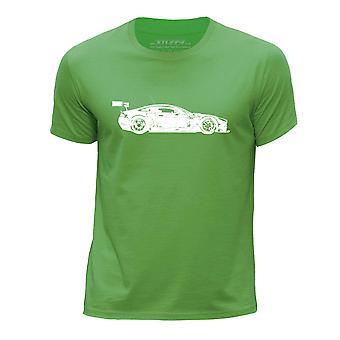 STUFF4 Boy's Round Neck T-Shirt/Stencil Car Art/Vantage GT3S/Green
