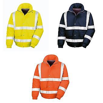 Resultaat Mens reflecterende veiligheid opgevuld Softshell Blouson jas