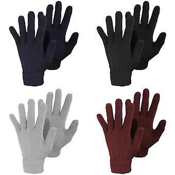 Ladies/Womens Plain Winter Magic Gloves