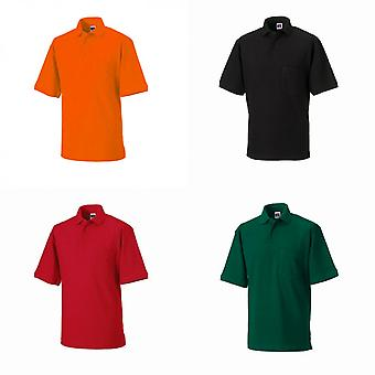 Chemise Polo à manches courtes Russell Workwear Mens Heavy Duty