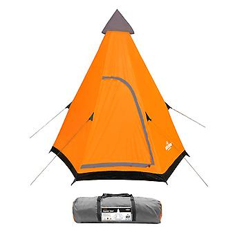 Milestone 2 Man Foldable Festival Teepee Tent With UV50+ Protection Orange