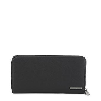 Armani Jeans Orijinal Unisex Tüm Yıl Cüzdan - Siyah Renk 34391