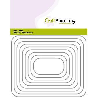 CraftEmotions Sterben - Kanten Rechteck mit runden Ecken Karte 11x14cm