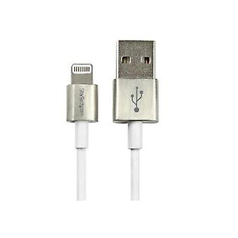 Startech 1M Metal Lightning To Usb Cable White