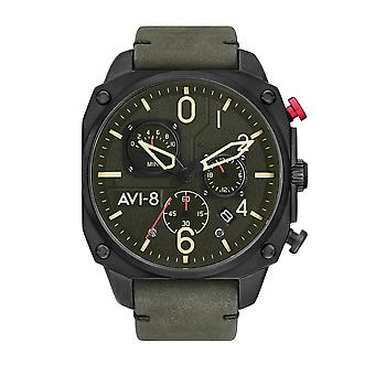 AVI-8 AV-4052-08 Hawker Hunter Green Dial Armbanduhr