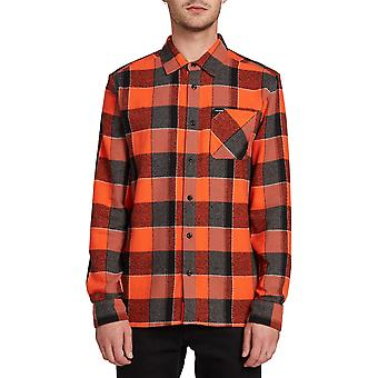 Volcom Neo Glitch Langarm Shirt in Tigerlily