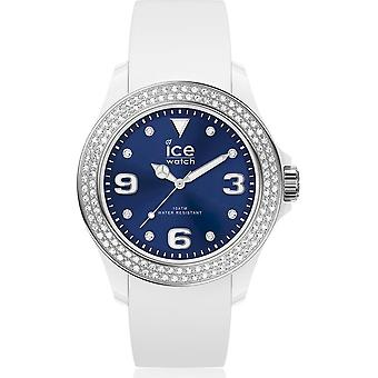 Ice Watch Armbandsur Unisex ICE stjärna Vit djupblå Smooth Medium 017235