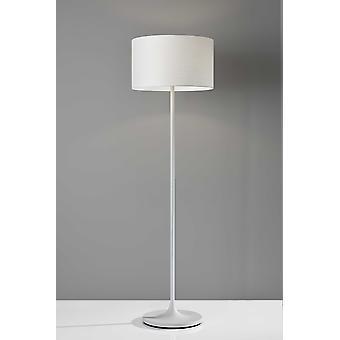 White on White Metal Floor Lamp
