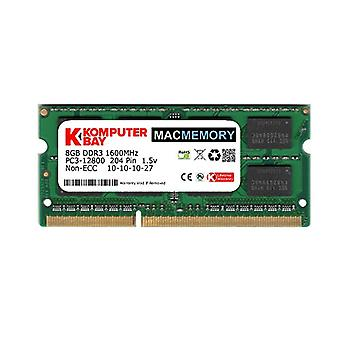 Komputerbay MACMEMORY 8GB PC3-12800 1600 MHz SODIMM 204-pin Laptop Memory 10-10-10-27 Single 8GB Stick til Apple Mac
