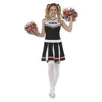 Womens Black Cheerleader Kostüm