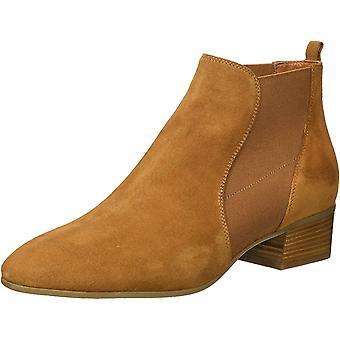 Aquatalia Women's Falco Suede Chelsea Boot, bark, 6 M US