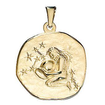 レディース ペンダント ゾディアック アクエリアス 333 ゴールド イエロー ゴールド ゾディアック ペンダント