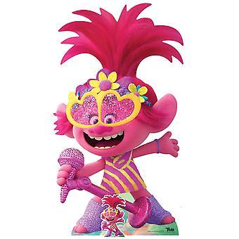 Princess Poppy Singing Official Trolls World Tour Lifesize Cardboard Cutout / Standee