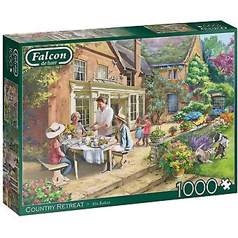 Falcon De Luxe Puzzel - Country House Retreat, 1000 Stuk