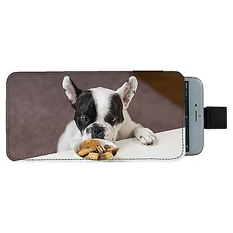 Dog French Bulldog Pull-up Mobile Bag