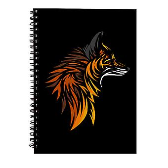 Fox Cutout Print Spiral Notebook