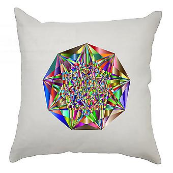 Colourful Cushion Cover 40cm x 40cm - Colourful Nonagon