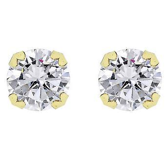 KJ Beckett rund Cubic Zirconia örhängen - Guld/Silver