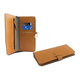 Universal Mobile Case - Varaa Smartphone 5,5 & KSIX Lompakko Oranssi