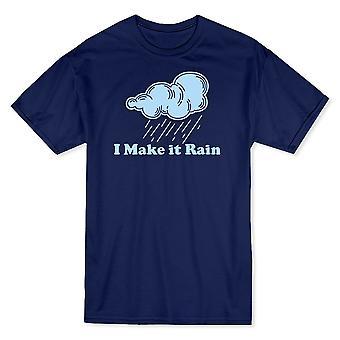 """I Make It Rain"" Quote Raining Cloud Graphic Men's T-shirt"