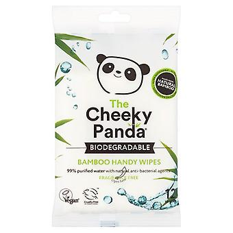 Cheeky Panda Biodegradable Bamboo Handy Wipes - 12 Wipes
