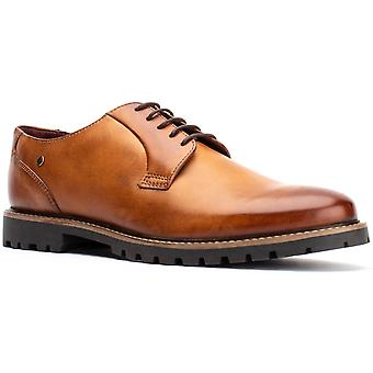Basis Londen Mens Hogan gewassen Lace Up Schoen Tan