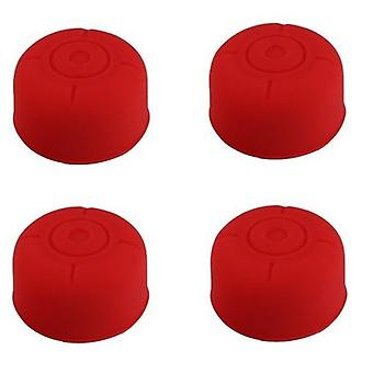4x Rubber Stick Cover Thumb Grip Caps Analog Controller For Nintendo Switch[Red]