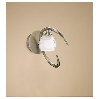 Wall Light Loop With Switch 1 Bulb G9 Eco, Antique Brass