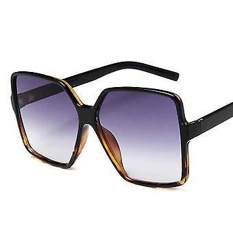 Oversize Designer Sunglasses For Women With Gradient Uv400 Lenses