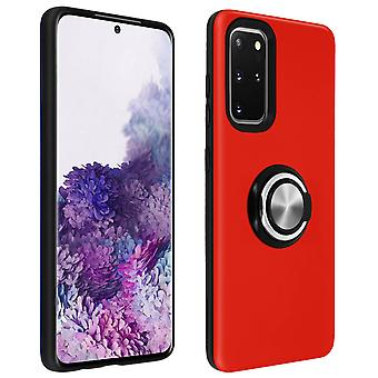 Cover for Samsung Galaxy S20 Plus Shockproof Case Red Video Support Holder Ring