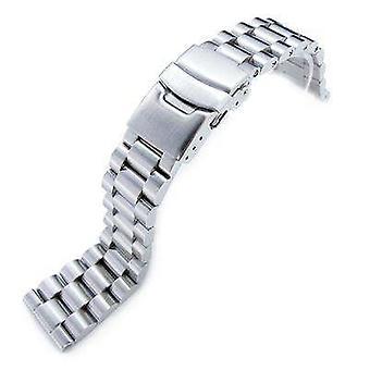 Strapcode watch bracelet 22mm solid 316l stainless steel endmill metal watch bracelet, straight end