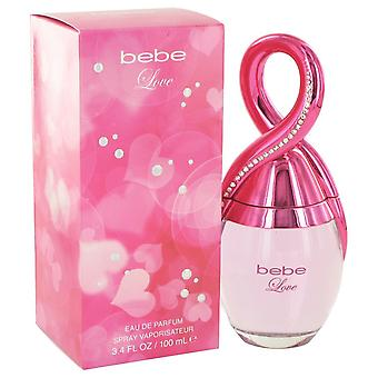 Bebe Love by Bebe Eau De Parfum Spray 3.4 oz / 100 ml (Women)
