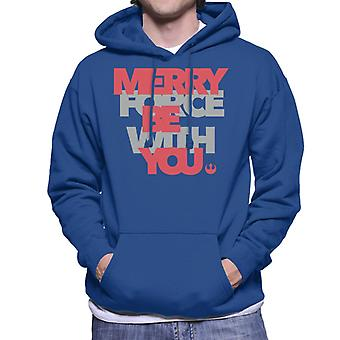 Star Wars Christmas Merry Force Rebel Alliance Men's Hooded Sweatshirt