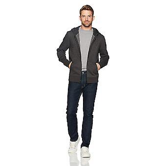 Essentials Men's Standard Full-Zip Hooded Fleece Sweatshirt, Charcoal ...