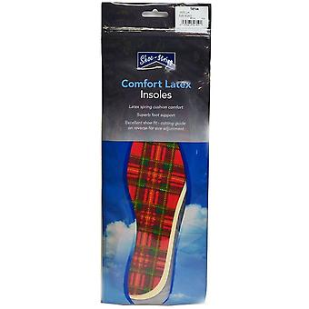 Woly Tartan Comfort Latex Insoles Unisex Insoles in Clear