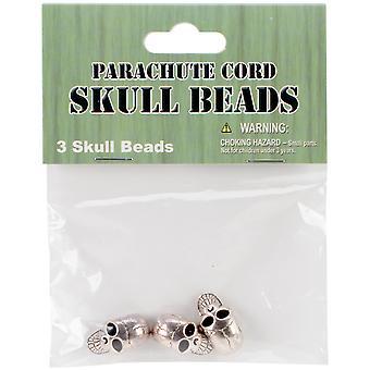 Parachute Cord Beads 3/Pkg-Skull